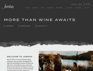 jordanwinery.com screenshot