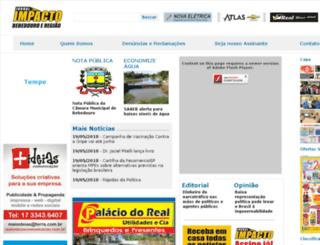 jornalimpactobebedouro.com.br screenshot