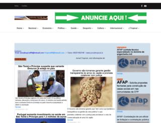 jornaltropical.st screenshot