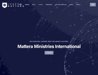 josephmattera.org screenshot