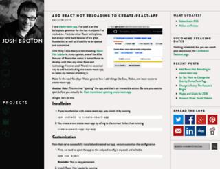 joshbroton.com screenshot