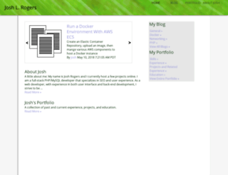 joshlrogers.com screenshot