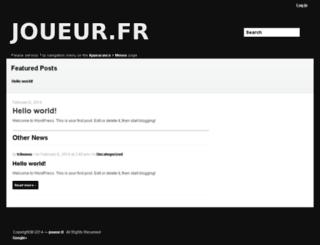 joueur.fr screenshot