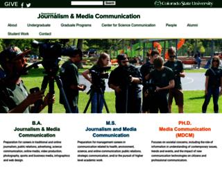 journalism.colostate.edu screenshot