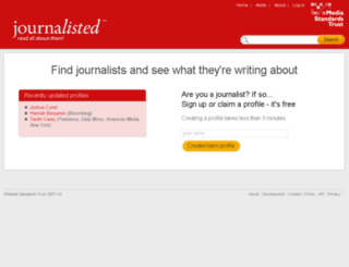journalisted.com screenshot