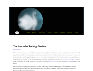 journalofzoology.com screenshot