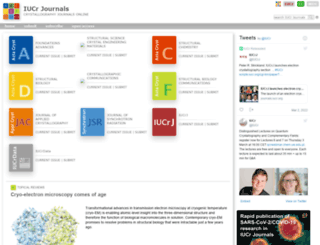 journals.iucr.org screenshot