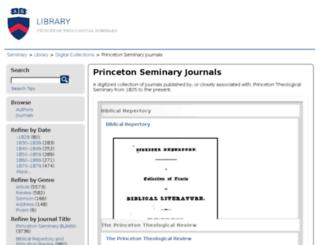 journals.ptsem.edu screenshot