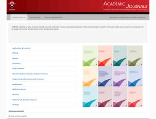journals.tubitak.gov.tr screenshot