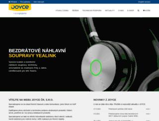 joyce.cz screenshot
