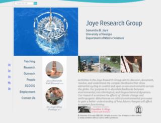 joyeresearchgroup.uga.edu screenshot
