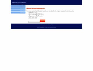 joyofcaregiving.com screenshot