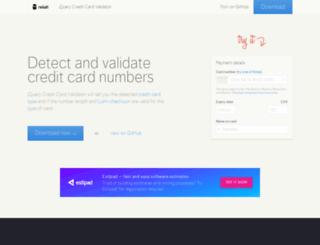 jquerycreditcardvalidator.com screenshot
