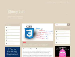 jquerylist.com screenshot