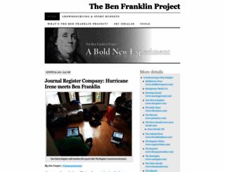jrcbenfranklinproject.wordpress.com screenshot