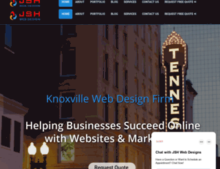 jshwebdesigns.com screenshot