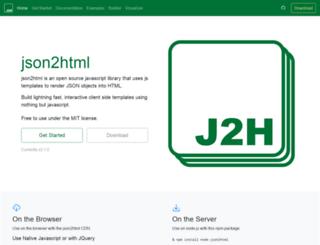 json2html.com screenshot