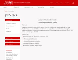 jsu.blackboard.com screenshot