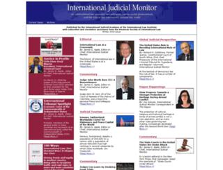 judicialmonitor.org screenshot