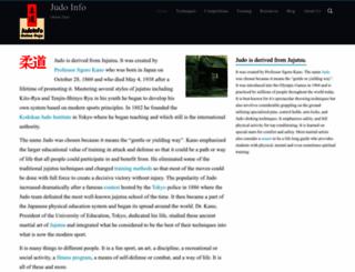 judoinfo.com screenshot