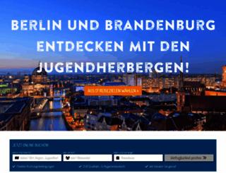 jugendherbergen-berlin-brandenburg.de screenshot