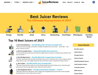 juicerreviewsdirect.com screenshot