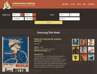 juliasantengallery.com screenshot