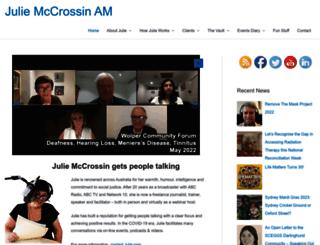 juliemccrossin.com screenshot