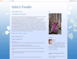 juliesfoodie.blogspot.com screenshot
