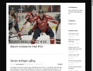 juliusbergkvist.div1hockey.se screenshot