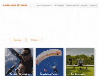 jumpfloridaskydiving.com screenshot