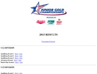juniorgold.bowl.com screenshot