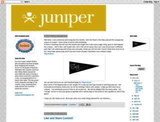 junipergallery.blogspot.co.nz screenshot
