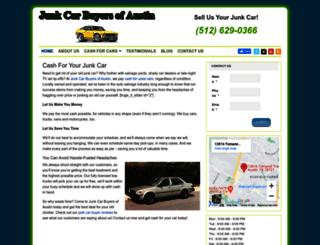 junkcarbuyersofaustin.com screenshot