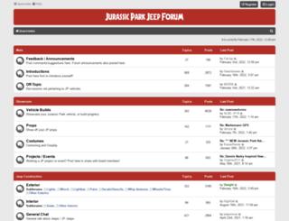 jurassicparkjeep.com screenshot