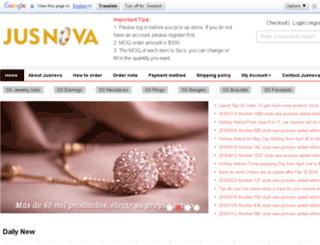jusnovajewelry.com screenshot