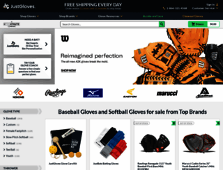 justballgloves.com screenshot