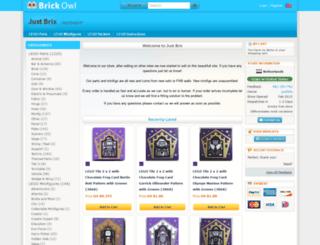 justbrix.brickowl.com screenshot