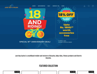 justbuycycles.in screenshot