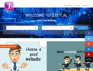 justcal.in screenshot