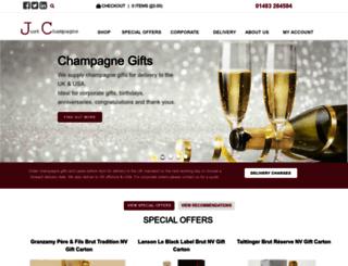 justchampagne.co.uk screenshot