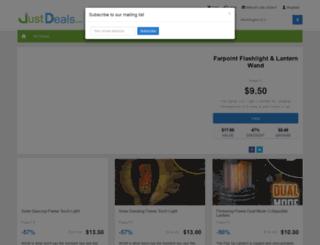 justdeals.com screenshot