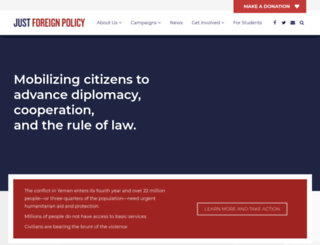 justforeignpolicy.org screenshot