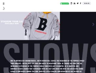 justinbieber.com.au screenshot
