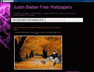 justinbieberfreewallpapers.blogspot.com screenshot