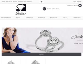 justinsfinejewelers.com screenshot