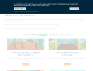 justlandlords.co.uk screenshot