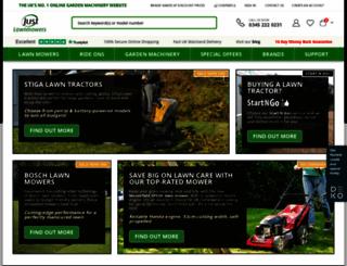 justlawnmowers.co.uk screenshot
