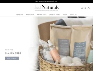 justnaturalproducts.com screenshot