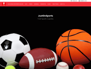 justonsports.com screenshot